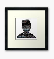Troye Sivan lyric compliation Framed Print
