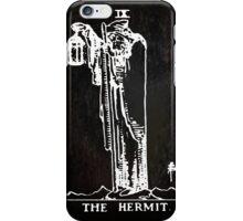 Tarot - The Hermit - Black iPhone Case/Skin