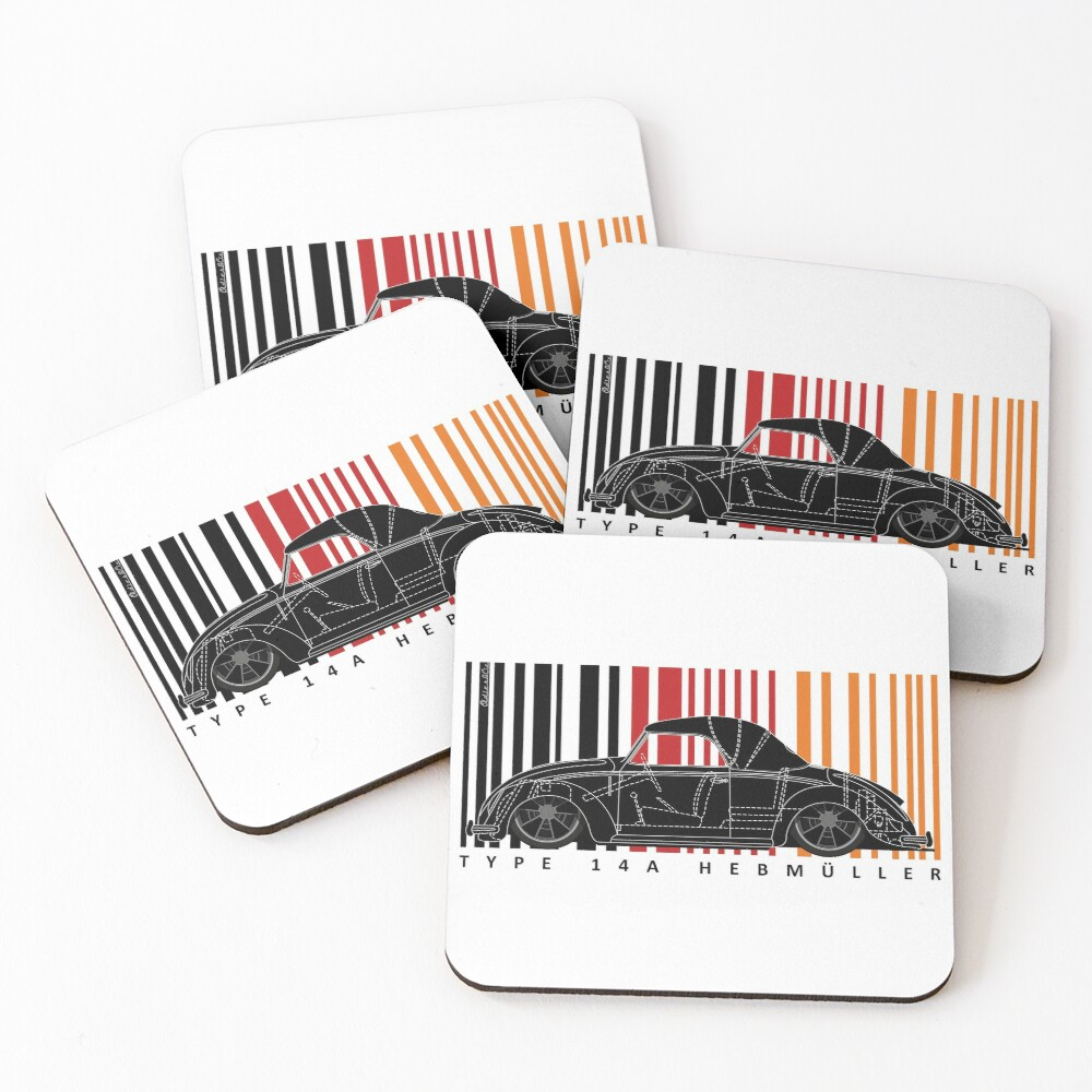 aircooled type 14 Coasters (Set of 4)