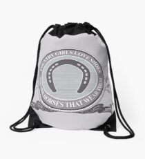 Country Girls Love Shoes & Horses Drawstring Bag