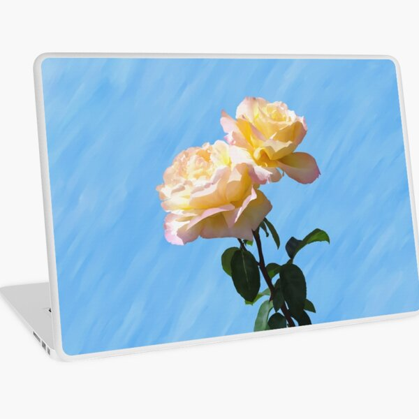 Yellow & Pink Rose Laptop Skin