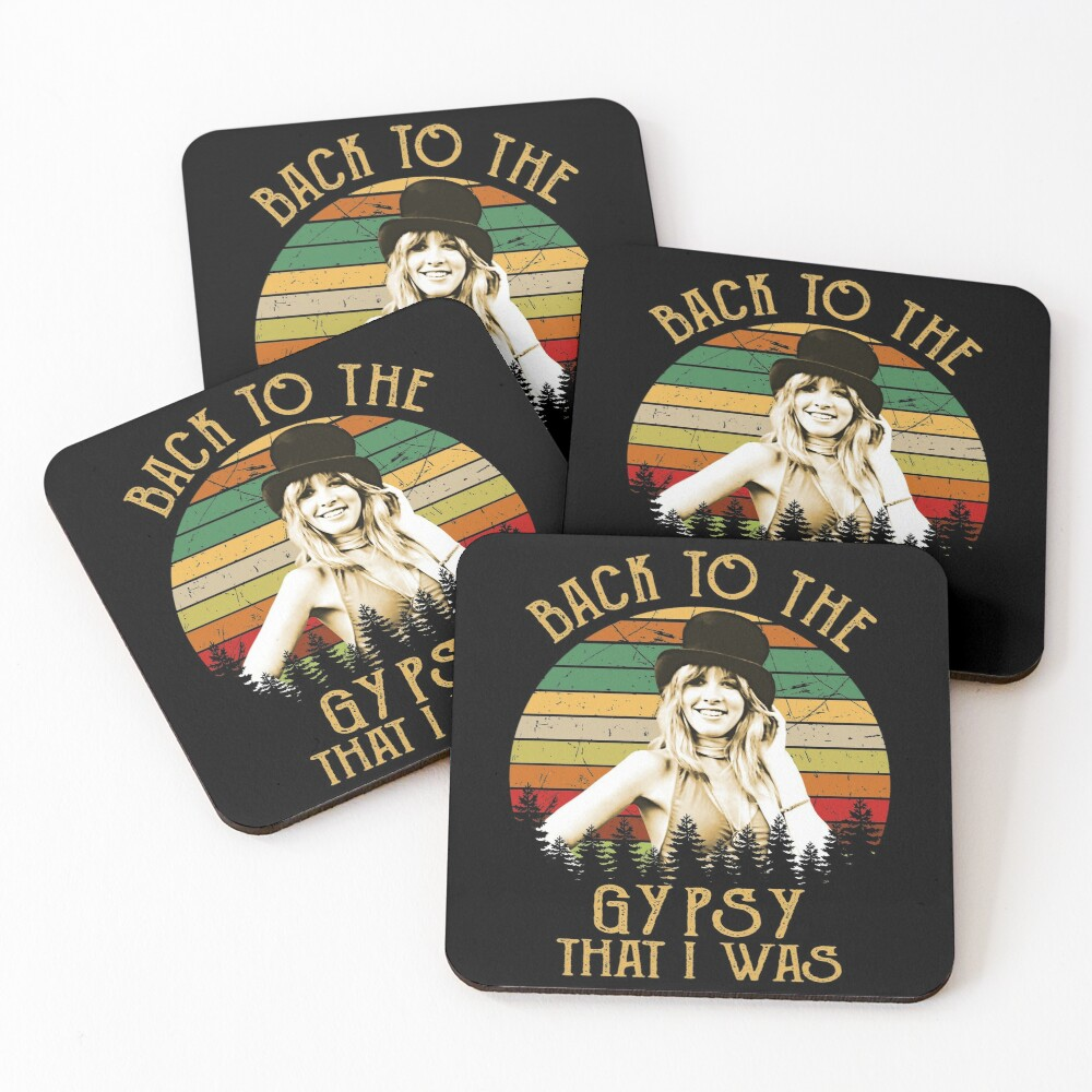 Back To The Gypsy That I Was vintage Retro Coasters (Set of 4)