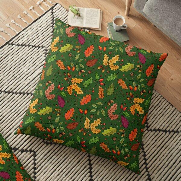 allgäuverliebt - Herbstliches Laub - Grün Bodenkissen
