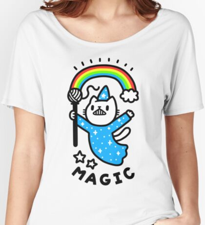 Magical Wizard Cat Relaxed Fit T-Shirt