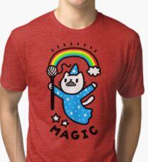 Magical Wizard Cat Tri-blend T-Shirt