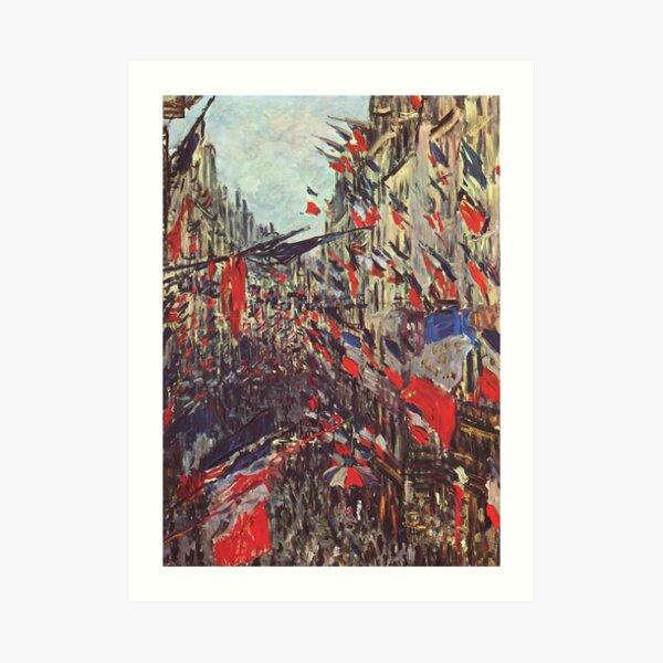 Claude Monet - Rue Saint Denis in Paris, Festival of June 30, 1878 Art Print