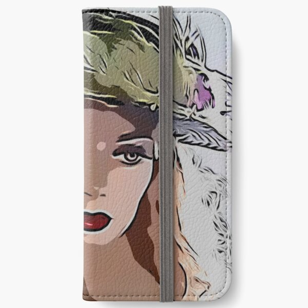 Feather hat beauty iPhone Wallet