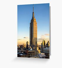 Empire State Building At Dusk Greeting Card