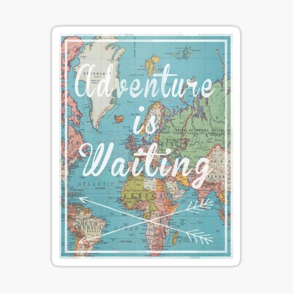 Adventure is Waiting World Map Sticker