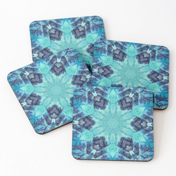 Snow Vines Coasters (Set of 4)