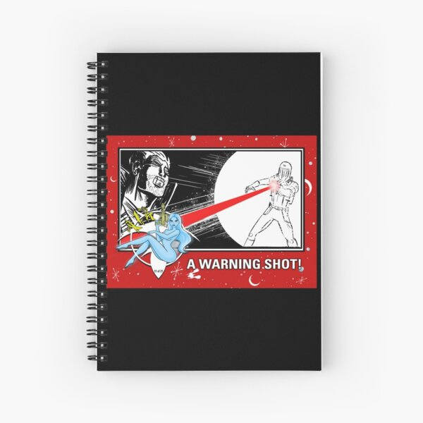 """WARNING SHOT!"" TRADING CARD ART Spiral Notebook"