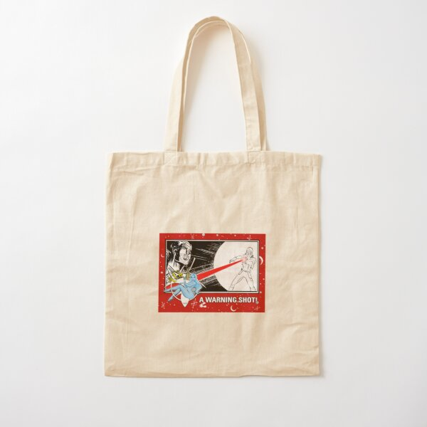 """WARNING SHOT!"" TRADING CARD ART Cotton Tote Bag"