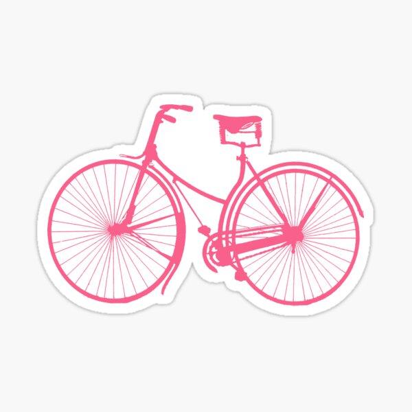 Pink BIke Sticker