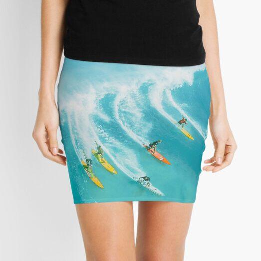 Ocean Blue Surfers Mini Skirt
