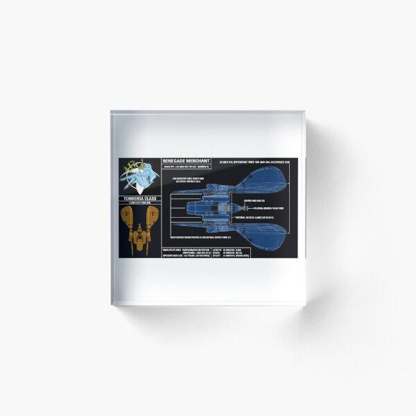 RENEGADE MERCHANT — SPEC SHEET Acrylic Block
