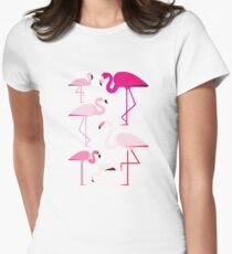 Flamingos Women's Fitted T-Shirt