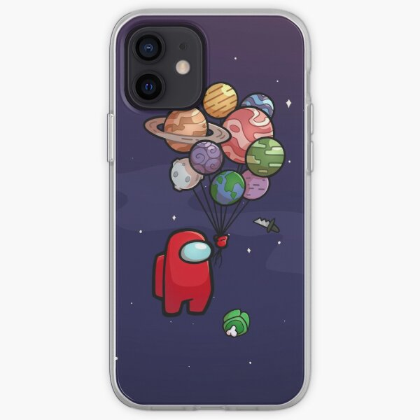 Spaceboy Red with Balloon  iPhone Soft Case