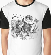 Day of the Dead Jack and Sally Graphic T-Shirt