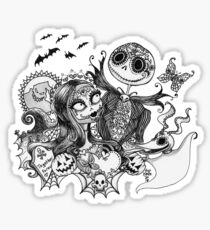 Day of the Dead Jack and Sally Sticker