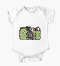 Vintage camera and bicycles One Piece - Short Sleeve