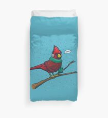 Annoyed IL Birds: The Cardinal Duvet Cover