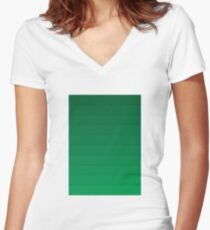 Layers (Green) Women's Fitted V-Neck T-Shirt