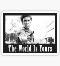 Scarface The World Is Yours Sticker