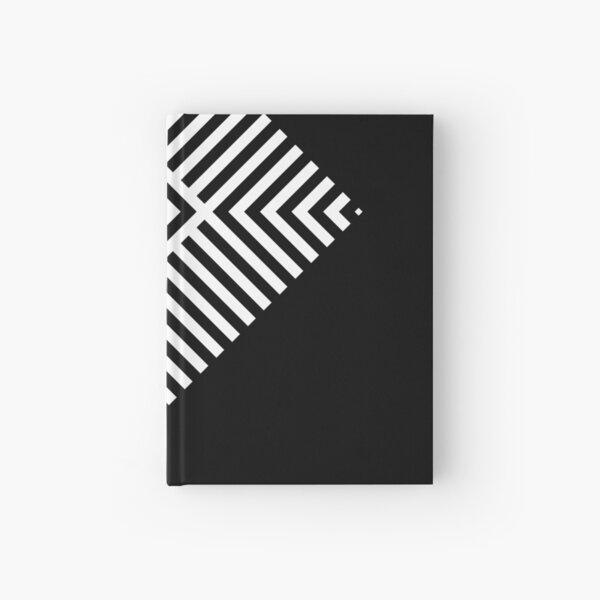 Asymmetrical Striped Square Rhombus Hardcover Journal