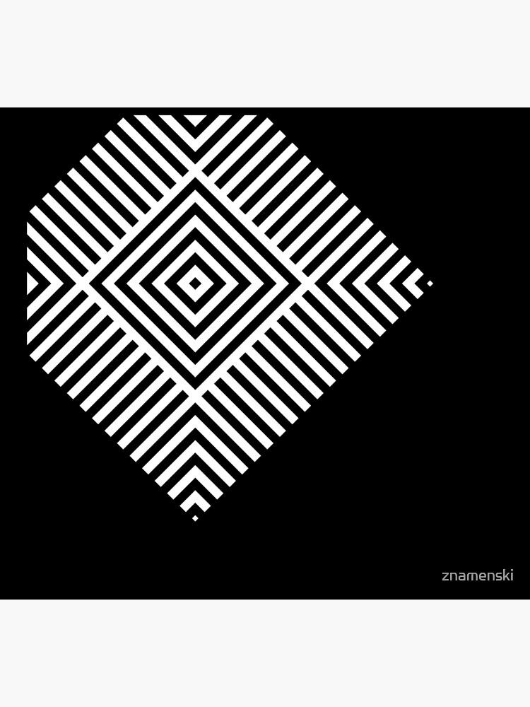 Asymmetrical Striped Square Rhombus by znamenski