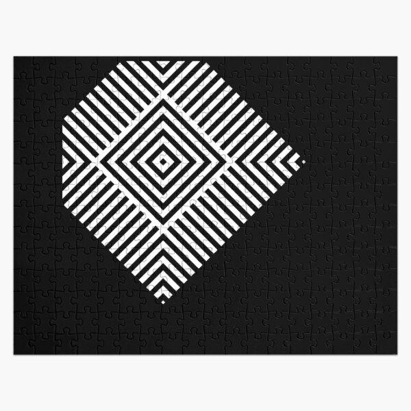 Asymmetrical Striped Square Rhombus Jigsaw Puzzle