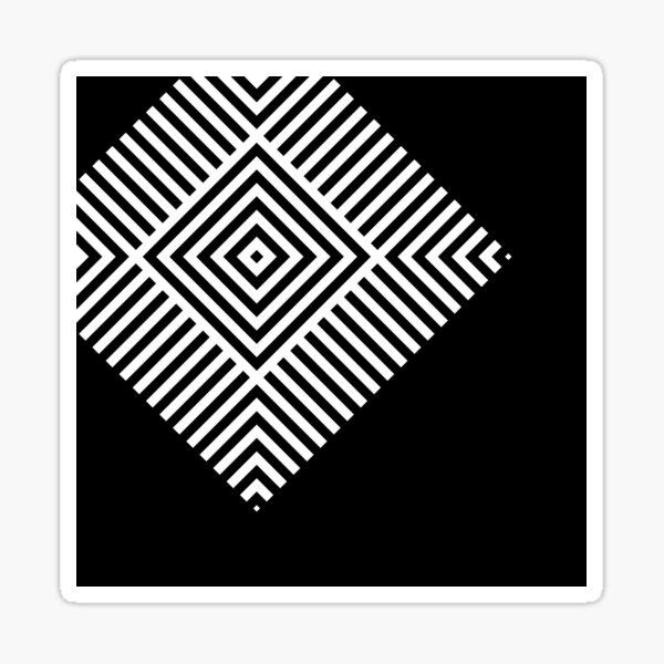 Asymmetrical Striped Square Rhombus Sticker