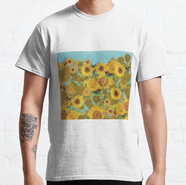 Sunflower collage design inspired by VIncent Van Gogh Classic T-Shirt