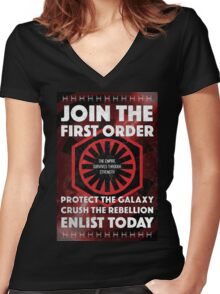First Order Recruitment Poster Women's Fitted V-Neck T-Shirt
