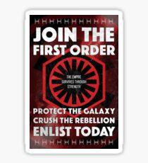 First Order Recruitment Poster Sticker