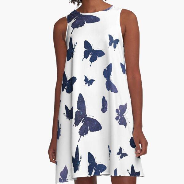 Celestial Butteflies A-Line Dress