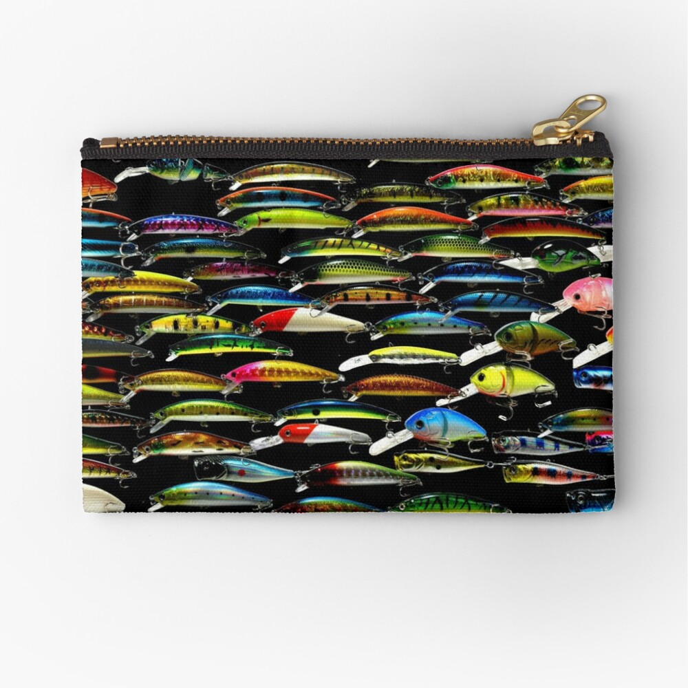 Fishing Lures Pattern Art Photo Zipper Pouch