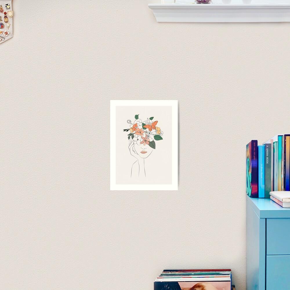 flowers girl Art Print