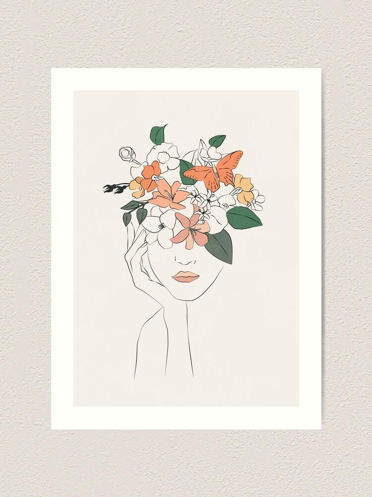 Alternate view of flowers girl Art Print