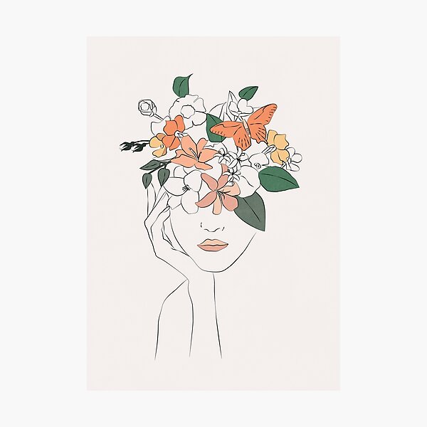 flowers girl Photographic Print