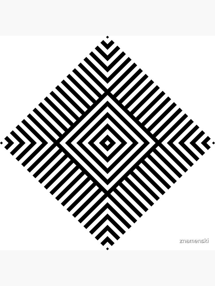 Symmetrical Striped Square Rhombus by znamenski