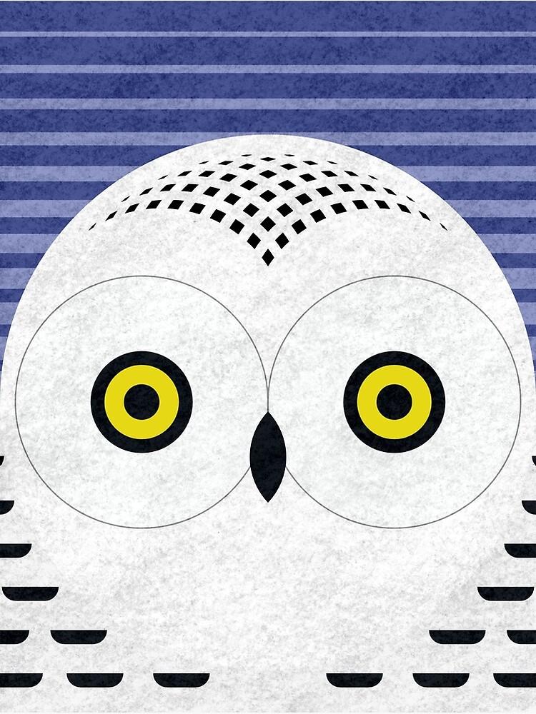 Snowy Owl Head by scottpartridge