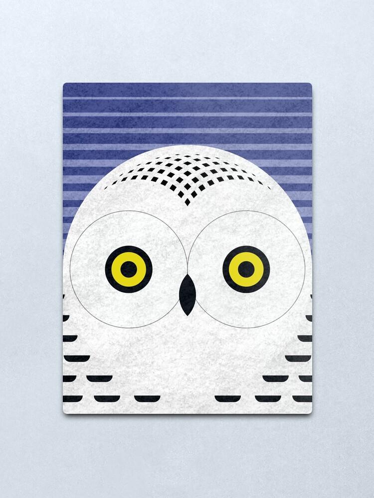 Alternate view of Snowy Owl Head Metal Print