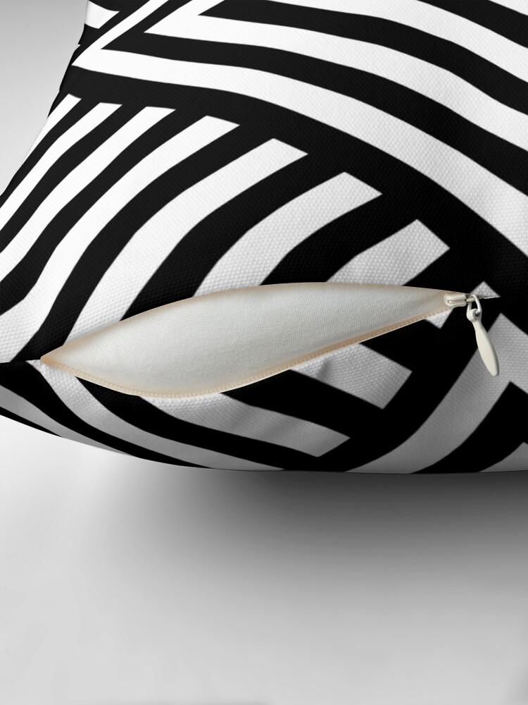 Alternate view of Symmetrical Striped Square Rhombus Throw Pillow