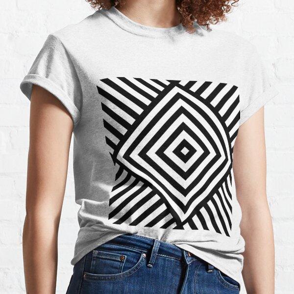 Symmetrical Striped Square Rhombus Classic T-Shirt