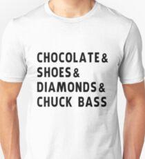chocolate, shoes, diamonds, chuck bass T-Shirt