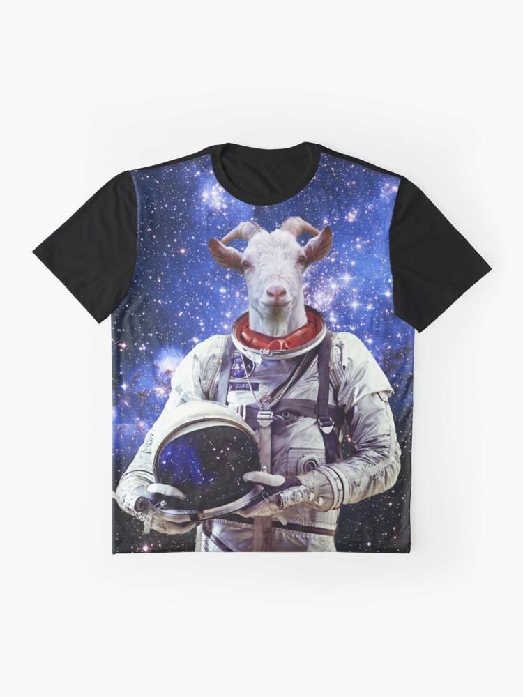 Alternative Ansicht von Ziege Astronaut im Weltraum Grafik T-Shirt
