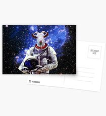 Goat Astronaut In Space Postcards