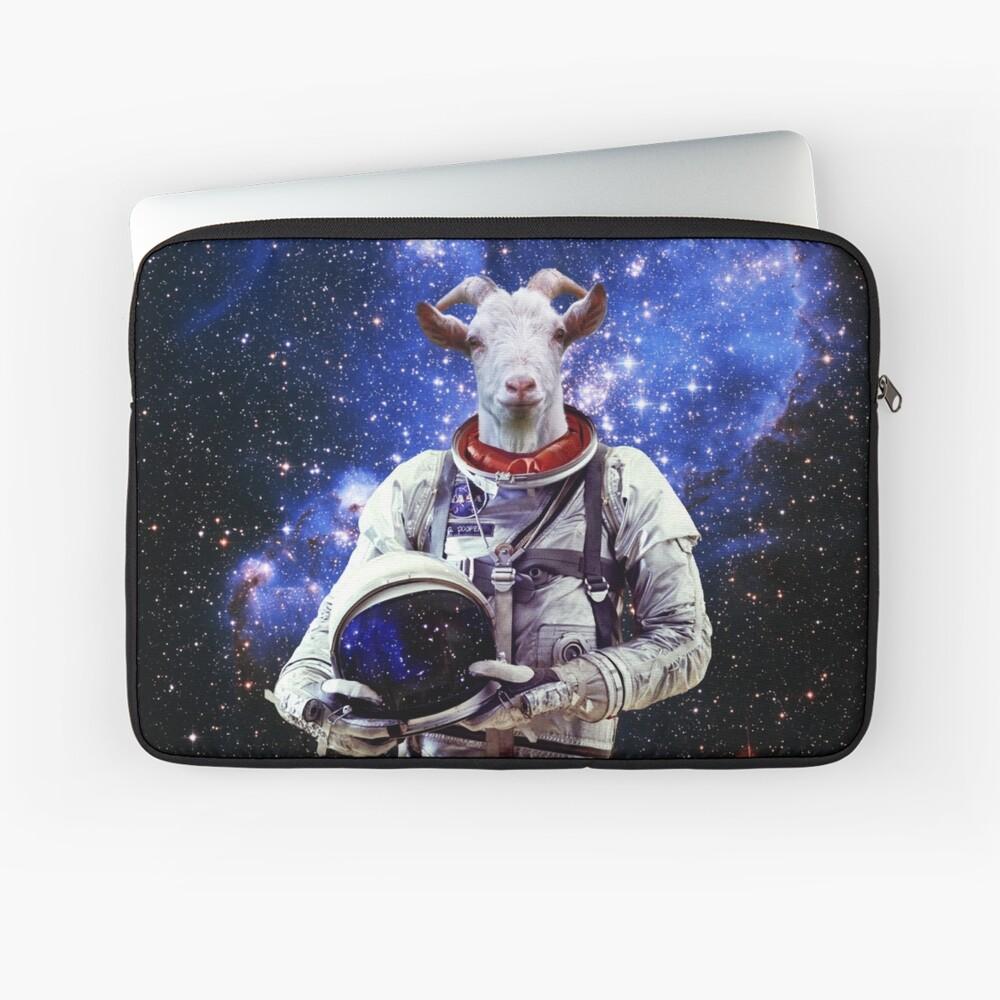 Ziege Astronaut im Weltraum Laptoptasche