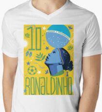 Ronaldinho Mens V-Neck T-Shirt