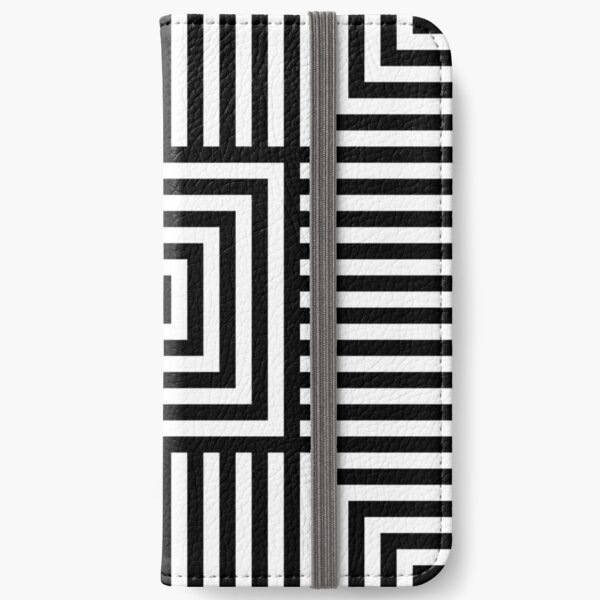 Symmetrical Striped Squares iPhone Wallet